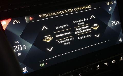 Personalización del combinado en el navegador del DS 7