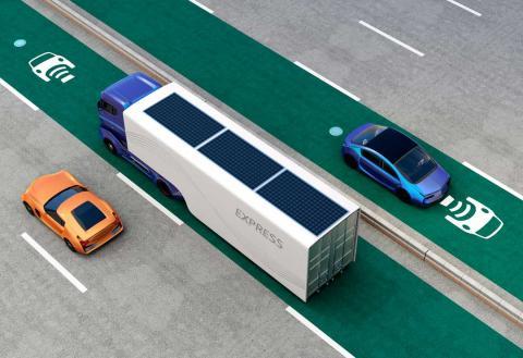 Una autopista que permita cargar un coche eléctrico en marcha