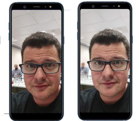 Galaxy A6 +: front camera bokeh