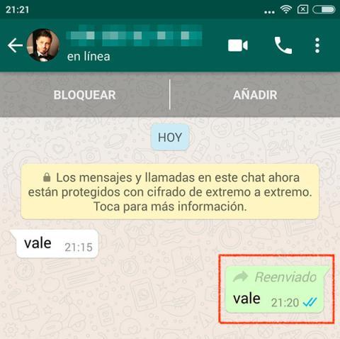 mensajes reenviados whatsapp