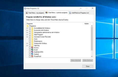 Ocultar programa en Windows