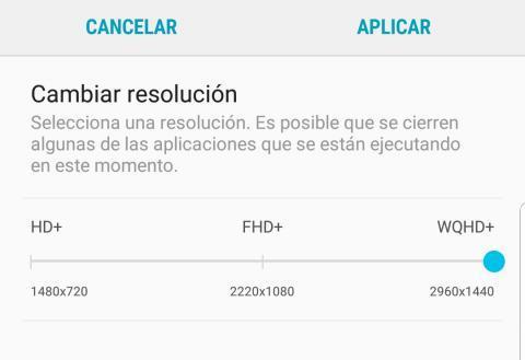 Resolución Galaxy S9
