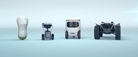 Robots presentdos por Honda en el CES 2018