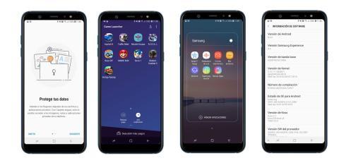 Samsung Galaxy A6 +: Native software