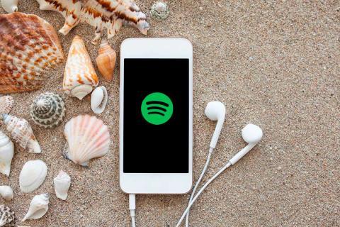 spotify móvil playa verano