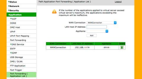 abrir puertos en el router ZTE ZXHN H208N
