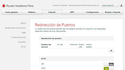 Abrir los puertos del router
