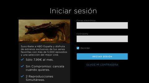 Acceder a HBO España