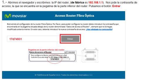 Acceder router HGU Movistar
