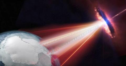 Etudio de neutrinos de IceCube en la Antártida