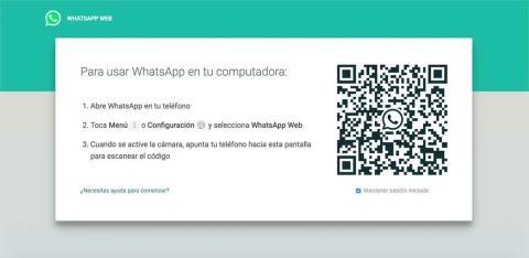 Así es el inicio de sesión para utilizar WhatsApp Web