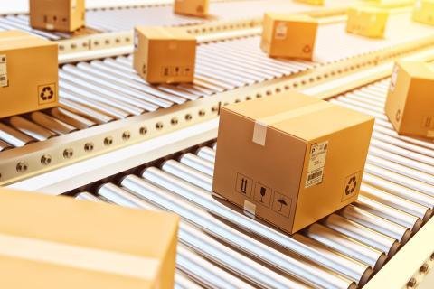 qCajas de cartón, embalaje, pedidos, transporte, paquetes