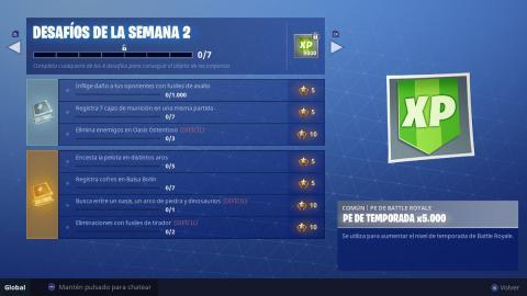 Desafíos semana 2 Fortnite