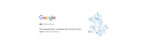 error 404 google