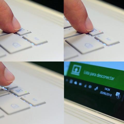 Funcionamiento tecla separación Surface Book 2