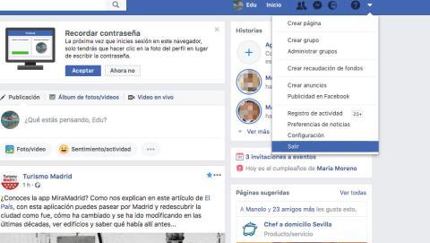 Iniciar sesión Facebook PC