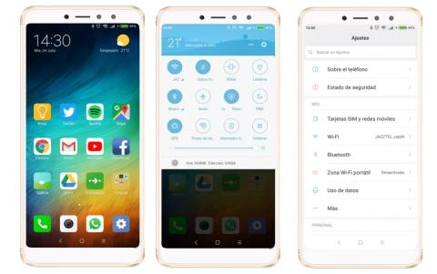 Interfaz Xiaomi Redmi S2