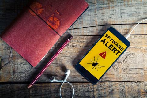 Spyware virus malware para teléfonos móviles Android