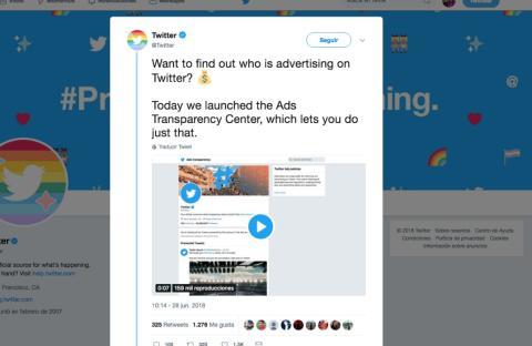 Twitter anuncia un nuevo Centro de Trasnparencia de Anuncios