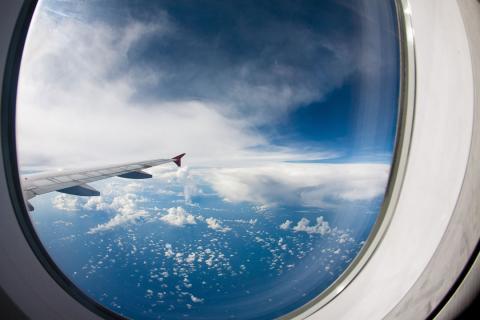 Ventanas de los aviones redondas