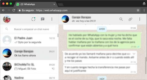 WhatsApp Web en el navegador