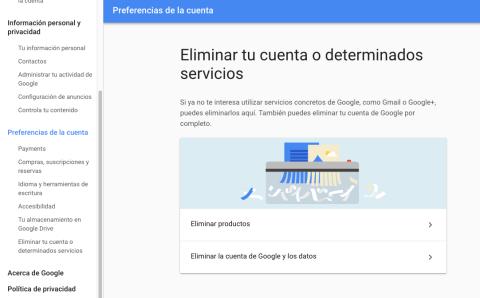 Como eliminar cuenta Gmail