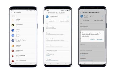 Galaxy S9 - desactivar app