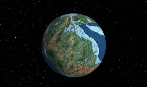 la Tierra en la época de los dinosaurios