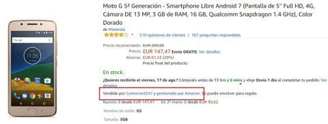Comprar móviles en Amazon