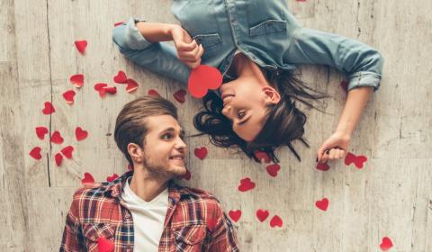 Motes cariñosos enamorados