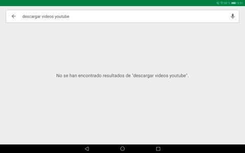 No hay aplicaciones para descargar vídeos de YouTube en la Google Play