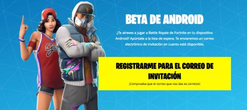 Registro Fortnite Android