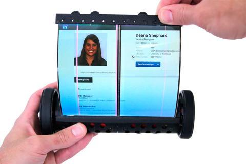 tablet flexible desplegada