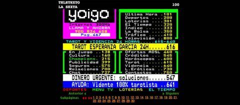 Teletexto de La Sexta