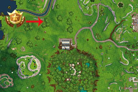 Tesoro mapa Socavón Soterrado Fortnite