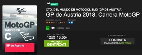 ver motogp austria 2018 online