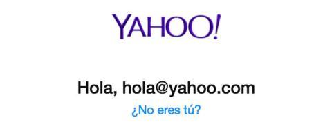 Yahoo no eres tú