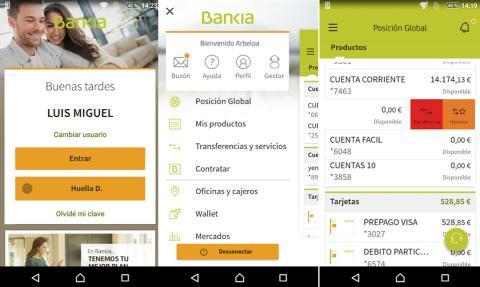 Aplicación de Bankia