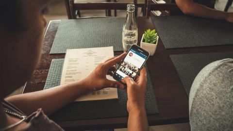 Aplicación de Instagram en móvil Android.