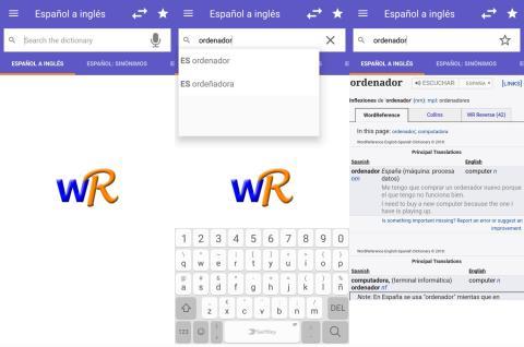 Aplicación WordReference
