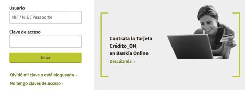 Bankia por Internet