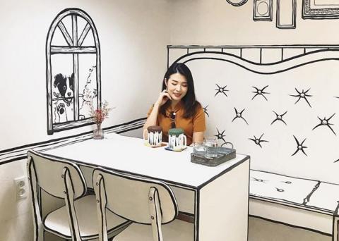 Cafetería estilo comic