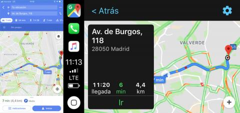 Maps de Google en Apple CarPlay