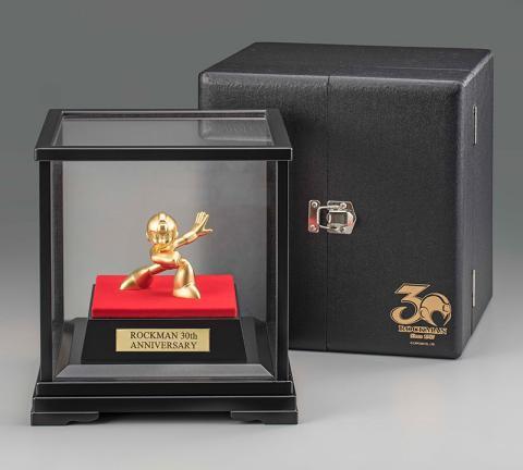 Megaman figura oro