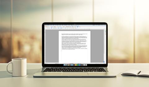 Ordenador portátil procesador de textos OpenOffice