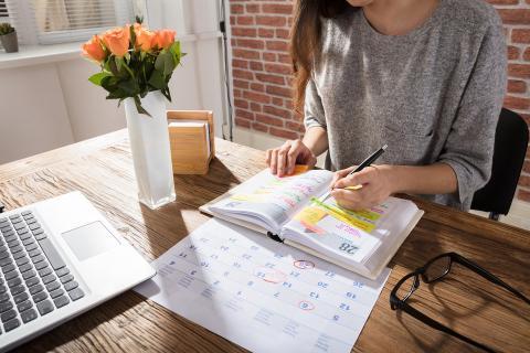 La agenda de escritorio es clave para la planificación