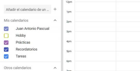 Google Calendar estudiantes