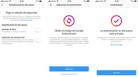 autenticacion dos pasos instagram
