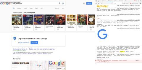 Aventura de texto de Google