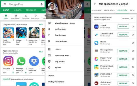 Colección aplicaciones Google Play